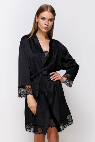 Вы можете купить Халат шелковый 701 черный и получить 25,95 грн. на следующую покупку