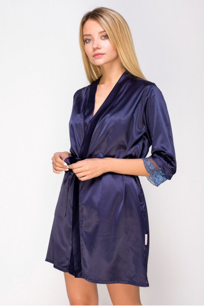 Вы можете купить Халат шелковый 761 синий и получить 25,95 грн. на следующую покупку