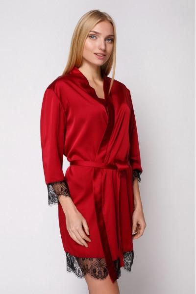 Вы можете купить Халат шелковый 805 бордо/черный и получить 25,95 грн. на следующую покупку