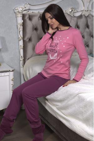 Пижама хлопковая кофта и штаны арт. - 32601