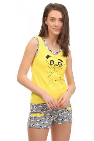 Пижама хлопковая майка и шорты арт. - 32502